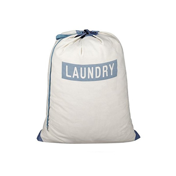 DAZZ Laundry Print Bag with Carry Handle, Beige