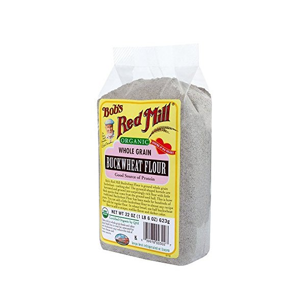 Bob's Red Mill Organic Buckwheat Flour, 22-Ounce (Pack of 4)