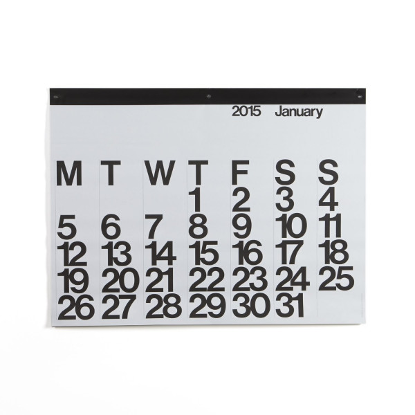 Crate and Barrel Stendig Wall Calendar 2015