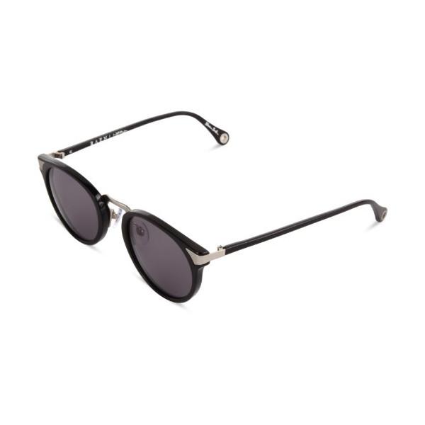 Raen Nera Round Sunglasses, Black/Silver