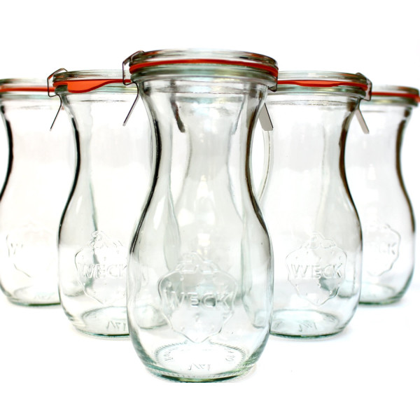 Weck 763 Juice Jar; set of 6; 9.8oz