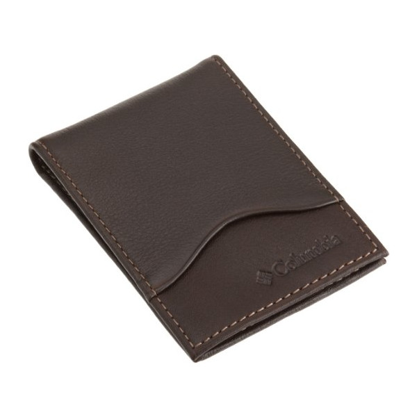 Columbia Mens Front Pocket Wallet, Brown