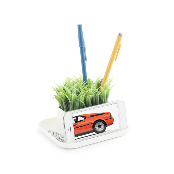 Kikkerland Potted Pen Phone Stand