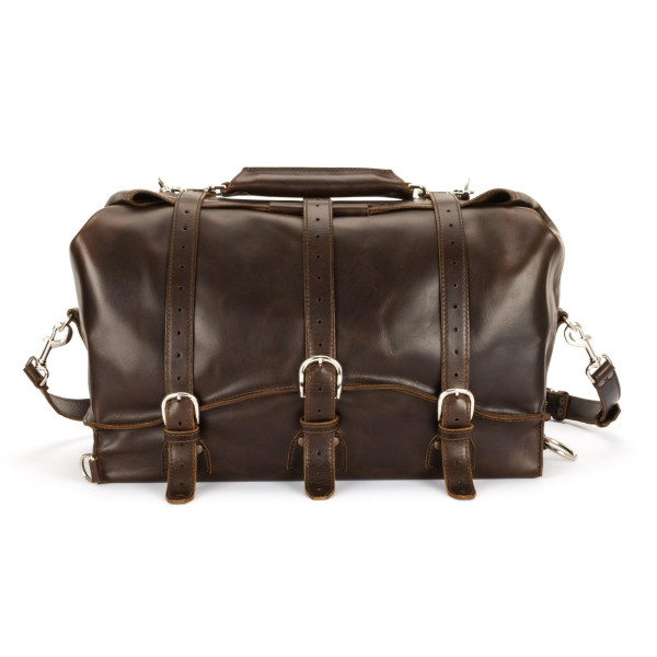 Saddleback Leather Medium Waterbag, Dark Coffee Brown