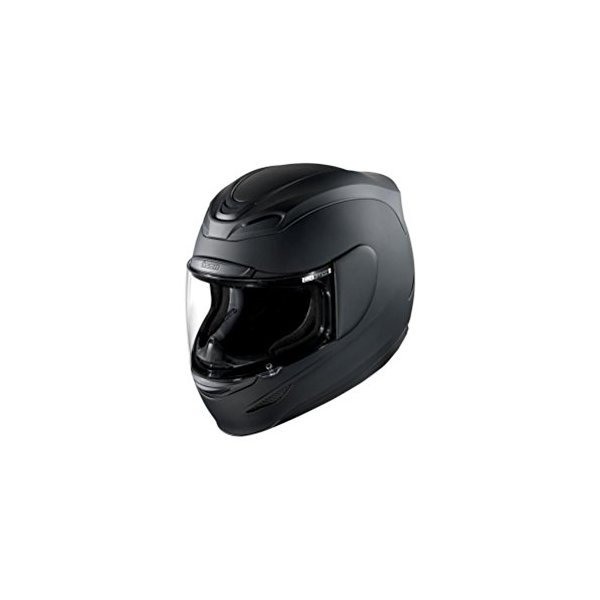 Icon Airmada Solid Helmet , Distinct Name: Rubatone Black, Gender: Mens/Unisex, Helmet Category: Street, Helmet Type: Full-face Helmets, Primary Color: Black, Size: Lg 0101-5963