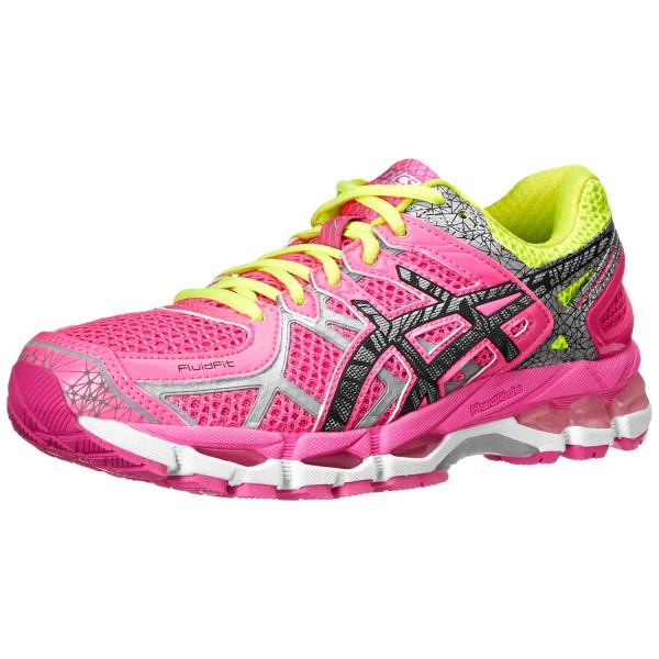 ASICS Women's Gel-Kayano 21 Lite-Show Running Shoe,Hot Pink/Lite/Safety Yellow,8 M US