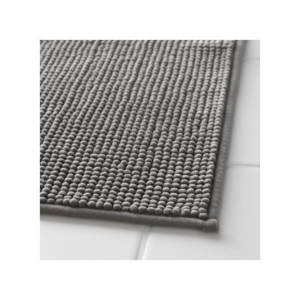Ikea Gray Supersoft Bath Shower Mat Rug Bathtub Bathroom Floor Badaren 16 x 24""