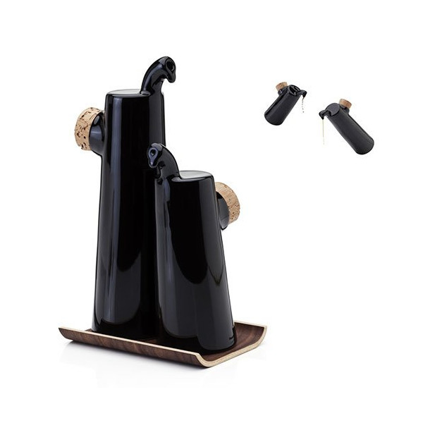 Tonfisk NOKKA Black / Walnut Oil & Vinegar Set