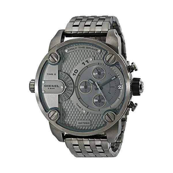 Diesel Men's DZ7263 The Daddies Series Analog Display Analog Quartz Grey Watch