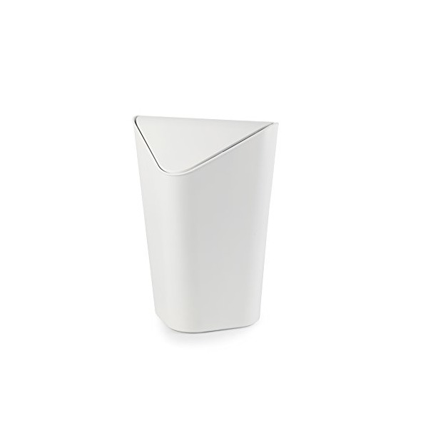 Umbra Corner Waste Can, White