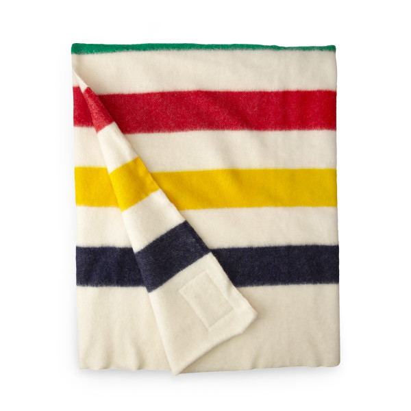 Hudson Bay 4 Point Blanket, Natural with Multi Stripes