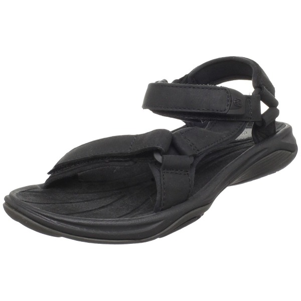 Teva Women's Pretty Rugged Leather 3 Sandal,Black,8 M US