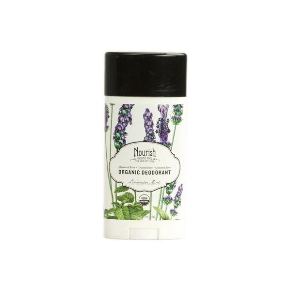 Nourish Organic Deodorant Lavender Mint Sensible Organics 2.2 oz Stick