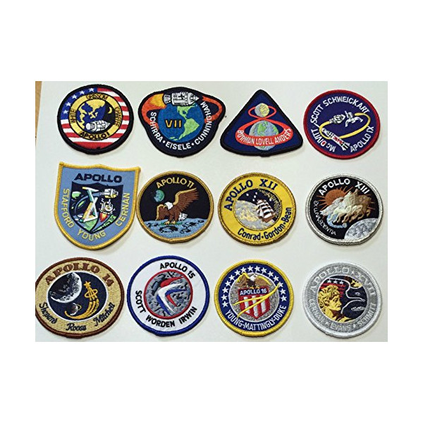Apollo Mission Patches Apollo 1,7,8,9,10,11,12,13,14,15,16,17 Nasa Made USA