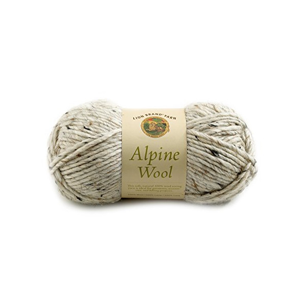 Lion Brand Yarn 822-223D Alpine Wool Yarn, Oatmeal