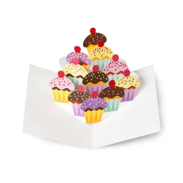 Sabuda Cupcakes Pop Up Note Cards