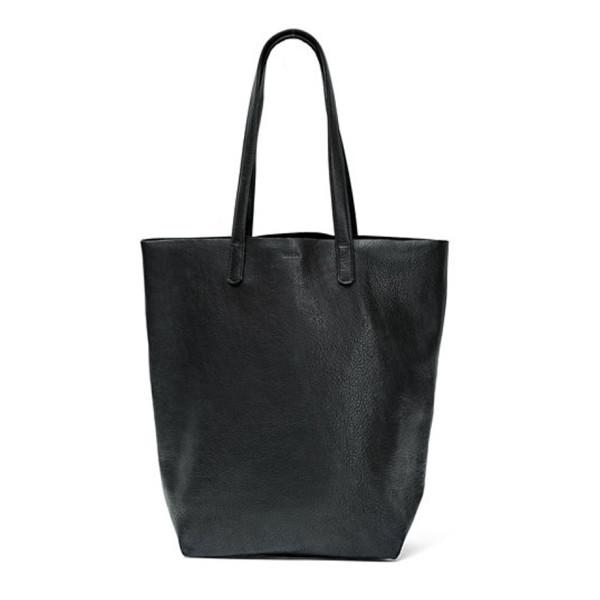 Baggu Basic Tote, Black Leather