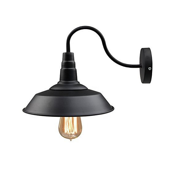 LNC®Black Metal Industrial Wall Sconce Shade 10-Inch(Bulbs not Included)