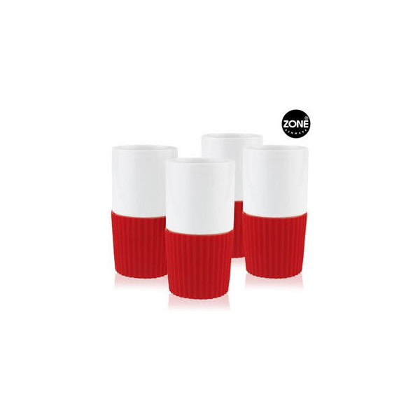 Confetti Red Mugs - Set of 4