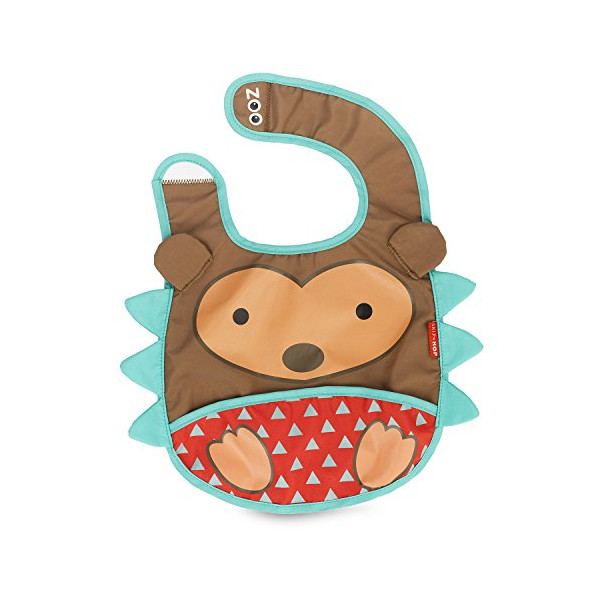 Skip Hop Zoo Tuck-Away Bib, Hedgehog