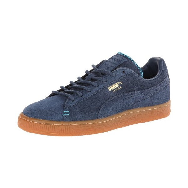 PUMA Men's Suede Classic Crafted Classic Sneaker,Dark Denim/Bluebird,8.5 M US