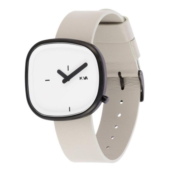 Nava Time Watch, Stone, White & Ash