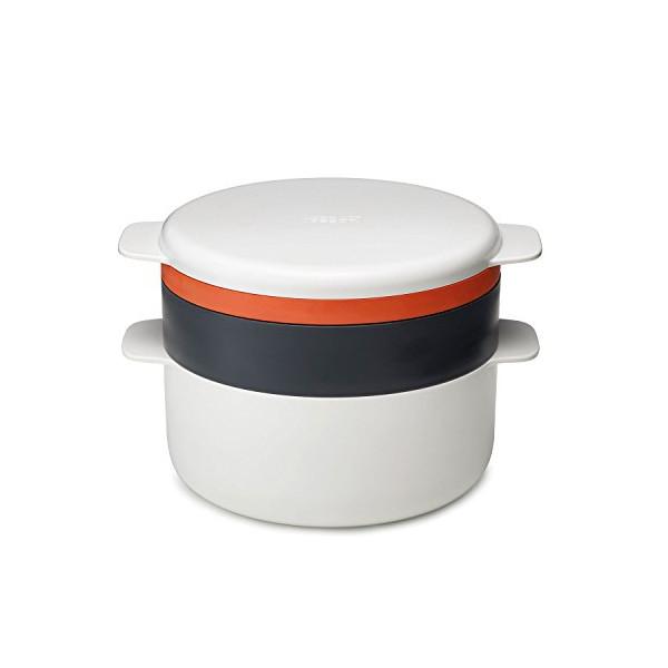 Joseph Joseph M-Cuisine 4 Piece Stackable Cooking Set, Orange/Beige
