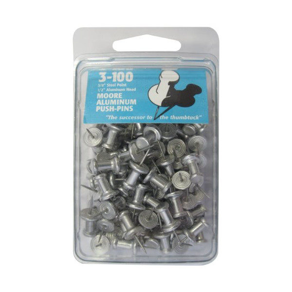 Moore Push-Pin 3-100 Aluminum Push Pins