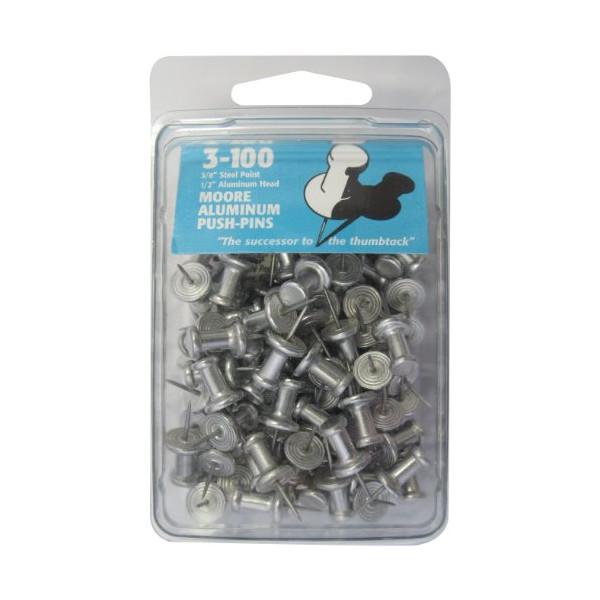 Moore Push-Pin 3-100 Aluminum Push Pins
