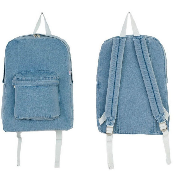 American Apparel Vintage Denim School Bag