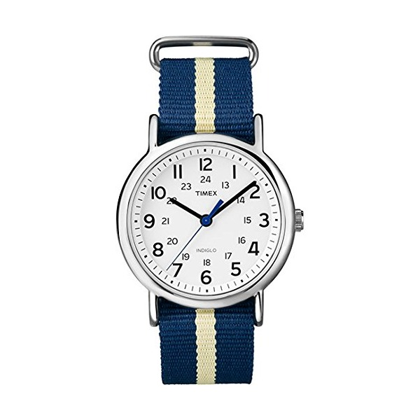 Timex Weekender Slip-Thru Stripled Nylon Strap Unisex Watch T2P142