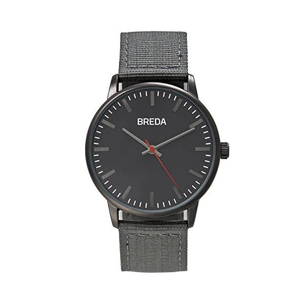 Breda Black / Gunmetal Grey Nylon Quartz Watch 1707A