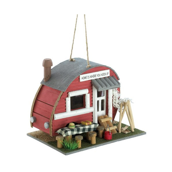 Gifts & Decor Vintage Trailer Camper Camping Theme Wood Bird House