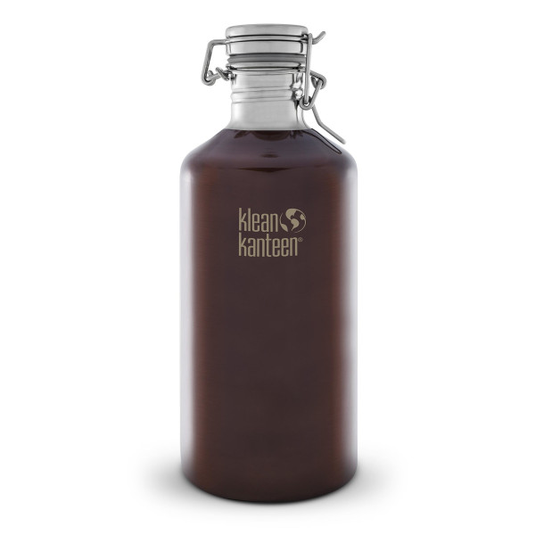 Growler with Swing Lok Cap, Dark Amber, 64-Ounce