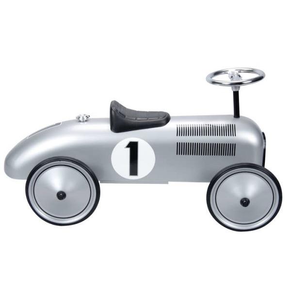 Schylling Silver Racecar Metal Speedster