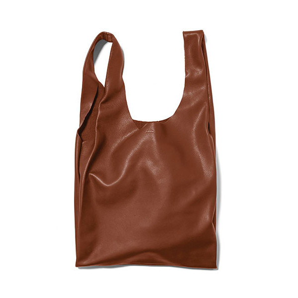 Baggu Leather Bag, Molasses
