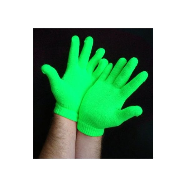 Super Glow Reactive Rave Gloves (Glows Under Black Light)