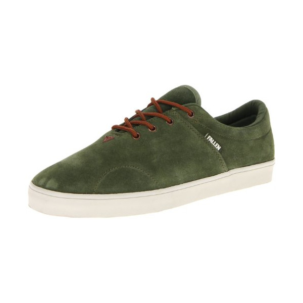Fallen Men's York Skate Shoe,Surplus Green/Saddle Brown,7 M US
