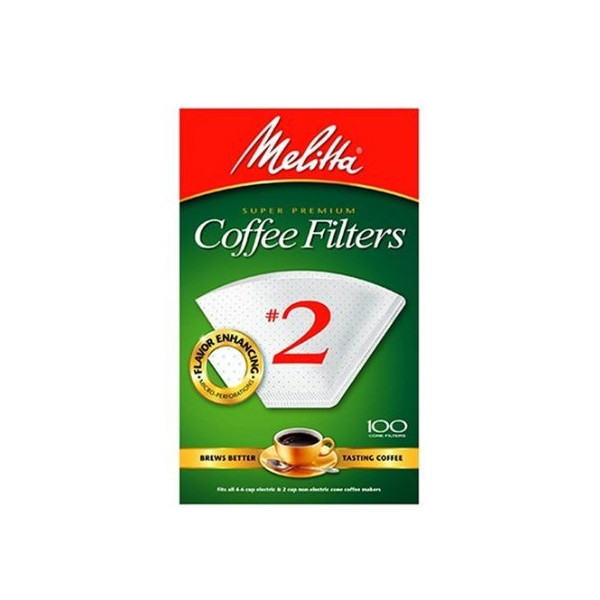 Melitta USA INC 622712 Cone Coffee Filters 100 Count - No. 2