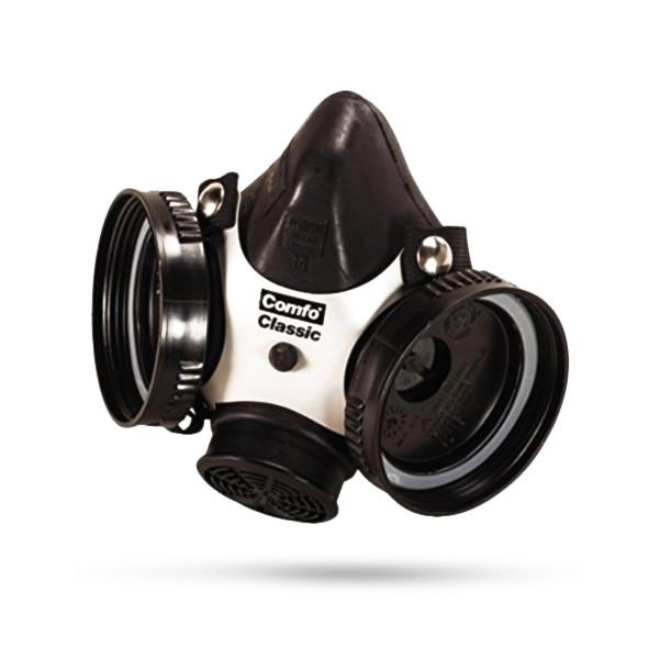 MSA Comfo Classic Half-Mask Facepiece Respirator, Black
