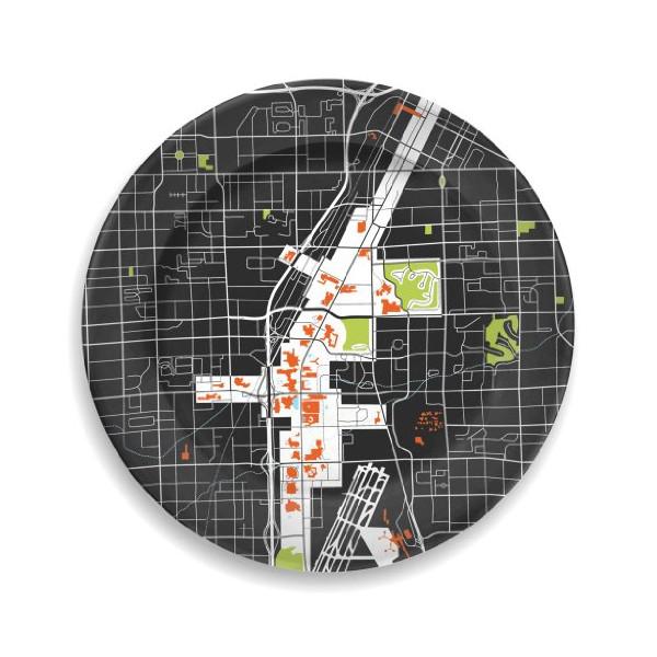 Las Vegas City Plate