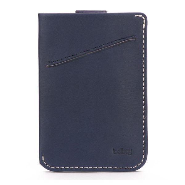 Bellroy Men's Leather Card Sleeve Wallet Blue Steel