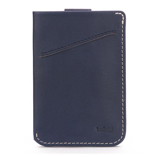 Bellroy Men's Leather Card Sleeve Wallet Blue Steel
