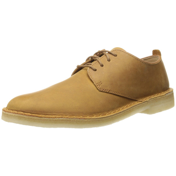 Clarks Men's Desert London Oxford, Mustard, 10.5 M US
