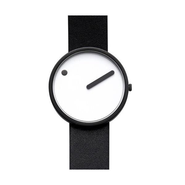 Rosendahl Watch - PICTO Leather - White/Black