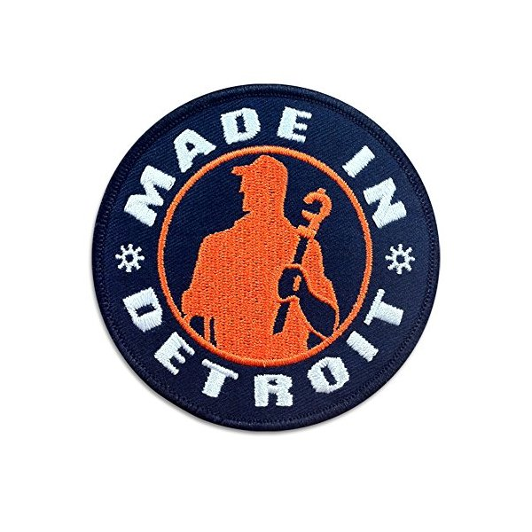Made In Detroit MID Patch - Navy with Orange