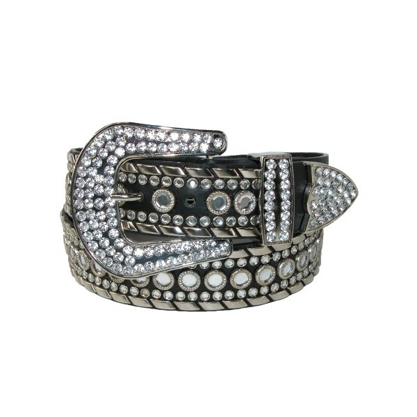 Lots of Rhinestones - Western Belt for Women Eliebelts,XL up to 40,black