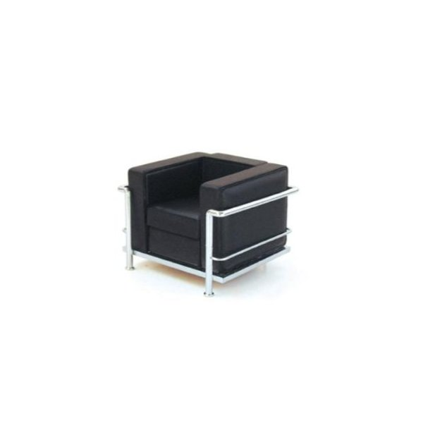 Mid Century Modern Design Miniature 1/12 Grand Confort Le Corbusier Armchair-black
