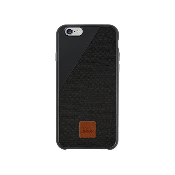 Native Union CLIC 360 for iPhone 6/6S - Military Grade Drop-Proof Protective case - Made with British Millerain Waxed Canvas - Charcoal