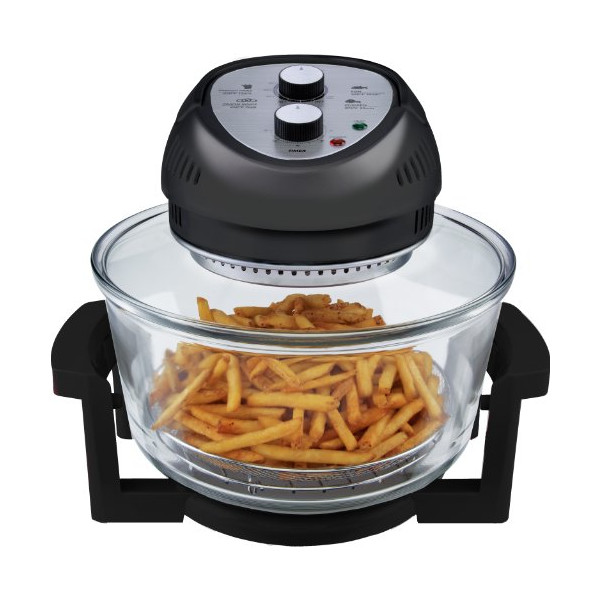 Big Boss 9065 1300-watt Oil-Less Fryer, 16-Quart, Black